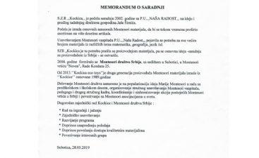 MEMORANDUM MONTESORI DRUSTVO SRBIJE 2019